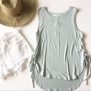 nwt//cupcakes & cashmere • lace up tank